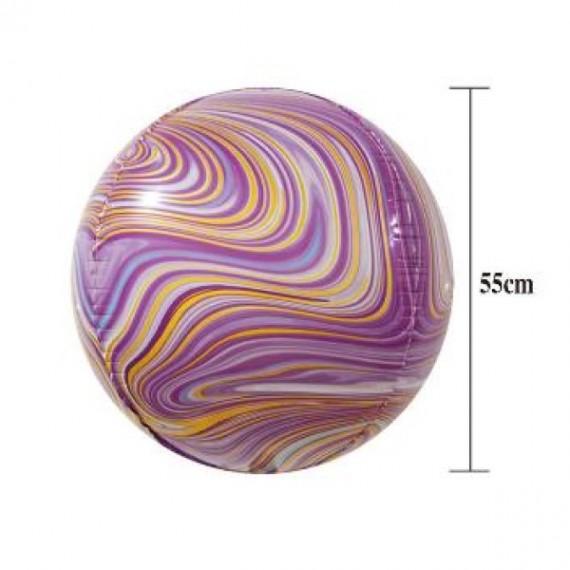 Globo 4D de Orbe Ágata de 55 Centímetros de color Púrpura