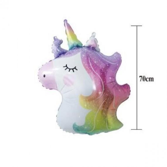 'Globo de Cabeza de Unicornio de 70 Centímetros