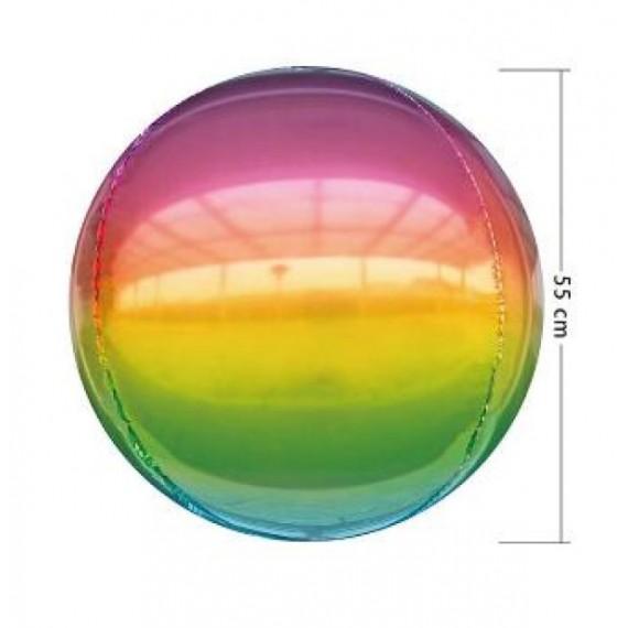 'Globo 4D de 55 Centímetros Multicolor