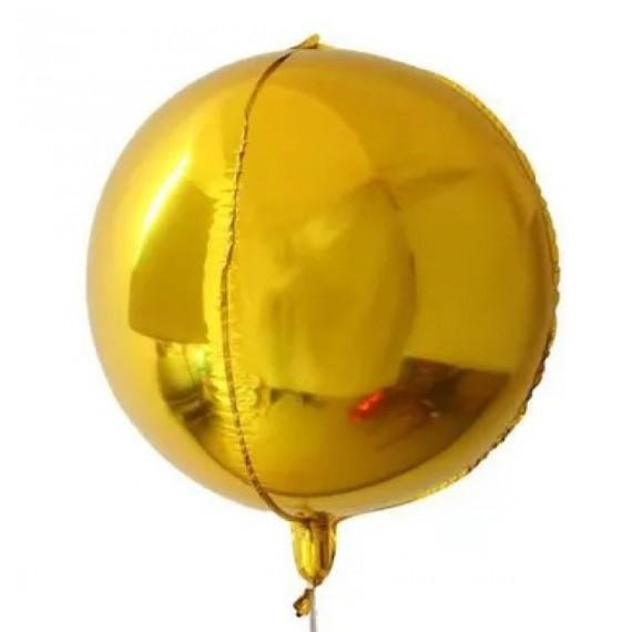 Globo 4D de 55 Centímetros de color Oro