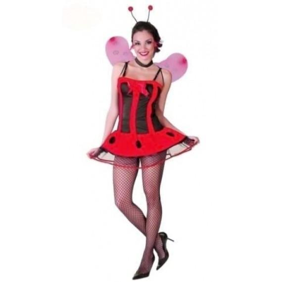 Disfraz de Mariquita de color Rojo para Adulto
