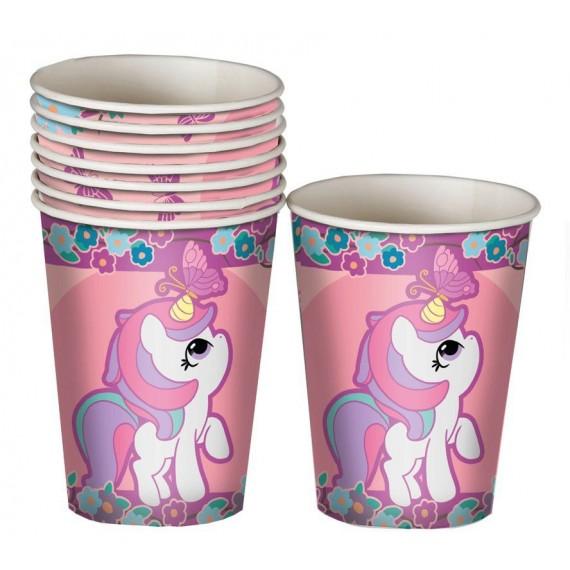 'Vaso 8 Unidades de Unicornio de 10 Centímetros