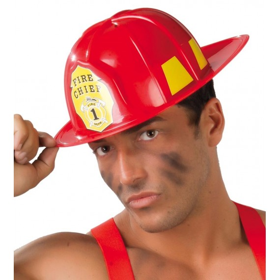 Casco de Bombero de color Rojo para Adulto