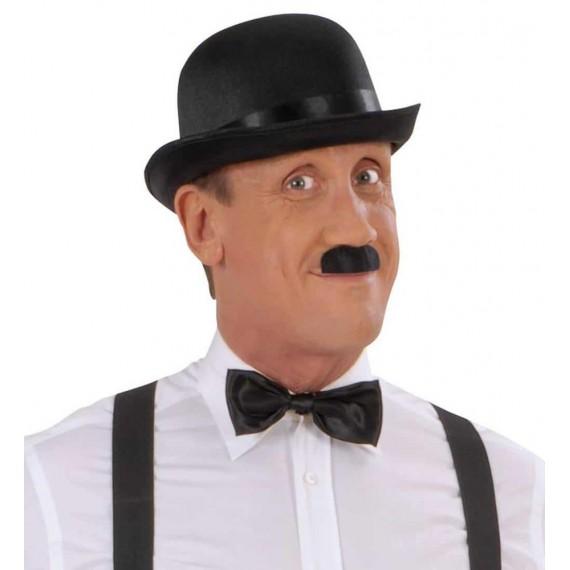 Bigote Negro Adhesivo de Chaplin para Adulto
