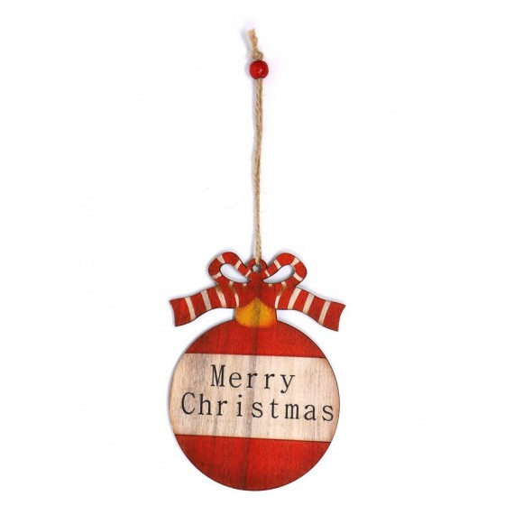 Bola de Merry Christmas de 12 Centímetros para Colgar
