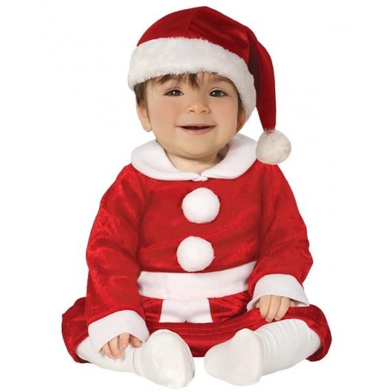 Disfraz de Mamá Noel de color Rojo para Bebé