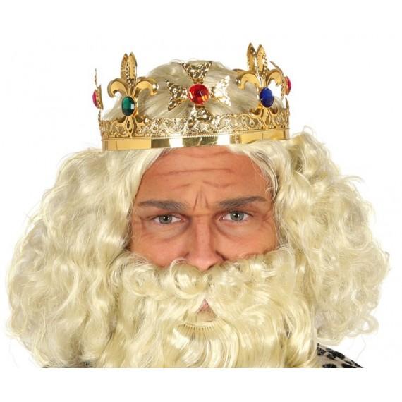 Corona de Rey de color Oro para Adulto