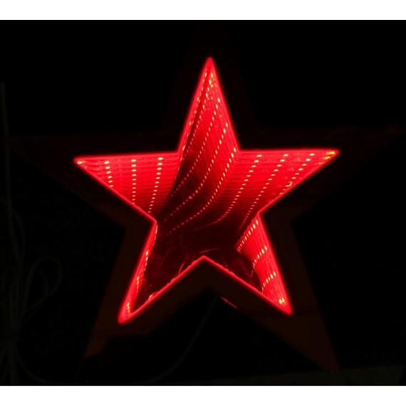 Estrella de color Rojo de 25 Centímetros con Luz