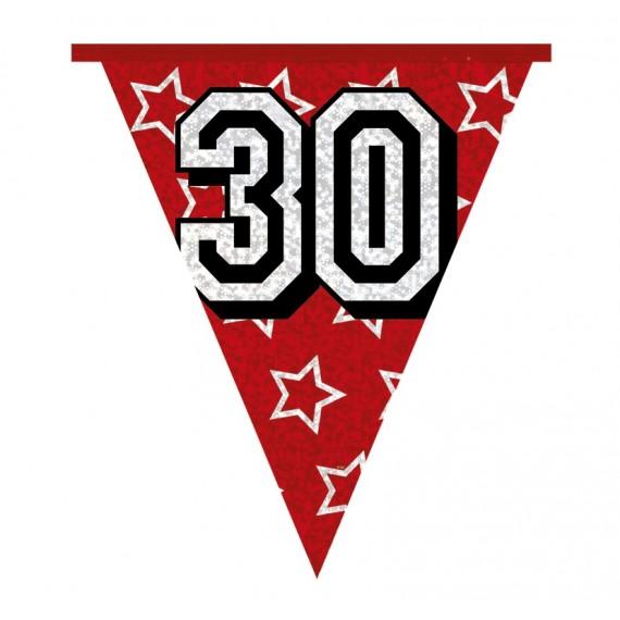 Banderines Holográficos Número 30 de 8 Metros
