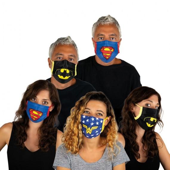 Mascarilla de Superhéroe DC Comics para Adulto