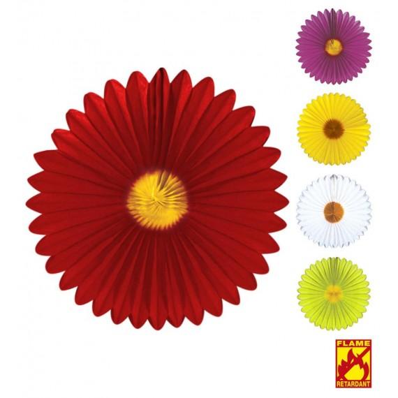 Abanico de Papel de Margarita de 50 Centímetros Varios Colores