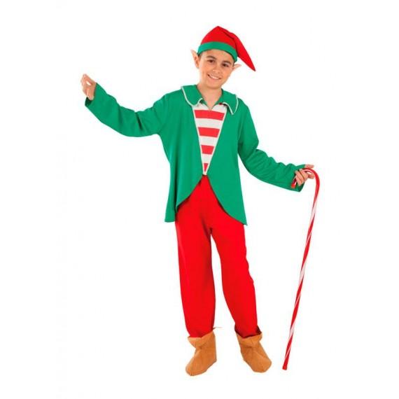 Disfraz de Elfo Ayudante de Papá Noel Infantil