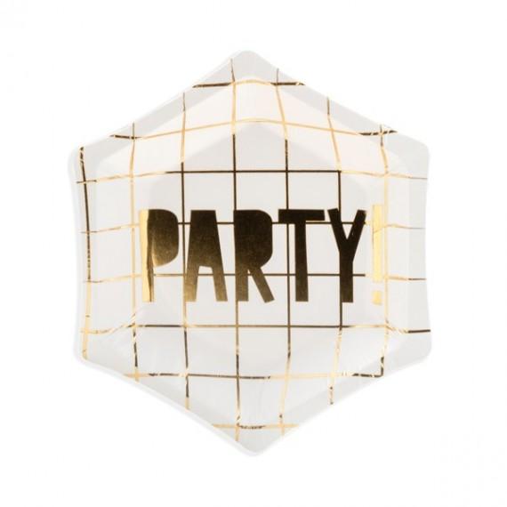 Plato de Let´s Celebrate Party 6 Unidades de 12,5 Centímetros