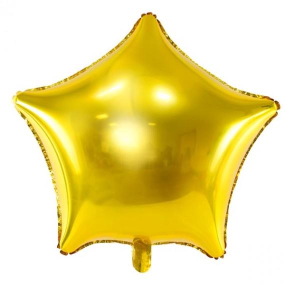 .Globo de Estrella de 70 Centímetros de color Oro