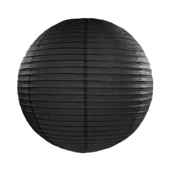 .Farolillo de Papel de 25 Centímetros de color Negro