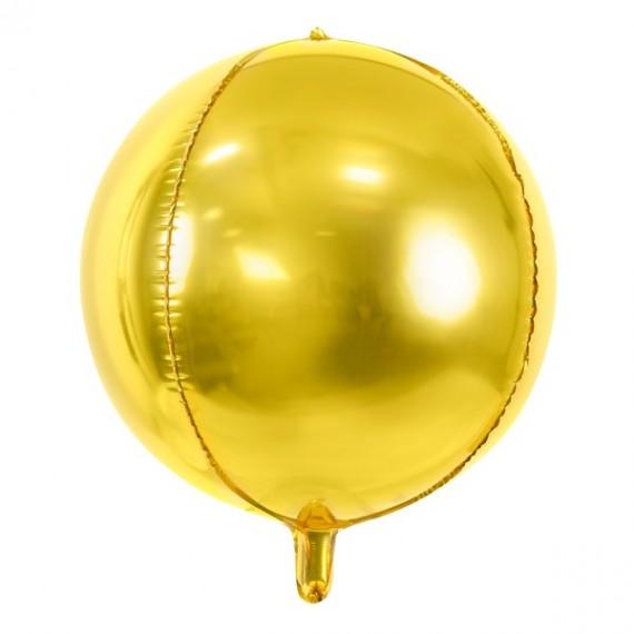 Globo 4D de 40 Centímetros de color Oro