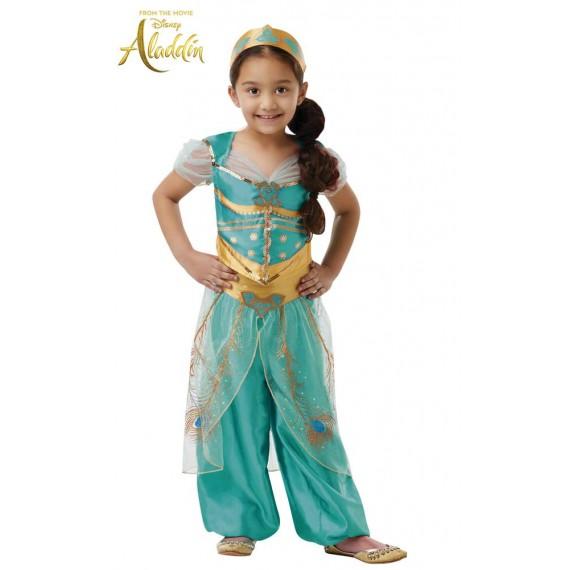 Disfraz de Jazmín Deluxe de Aladdín Infantil