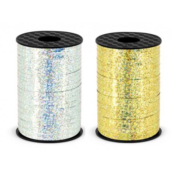 Cinta de Plástico de 5 Milímetros x 225 Metros Color Holográfico