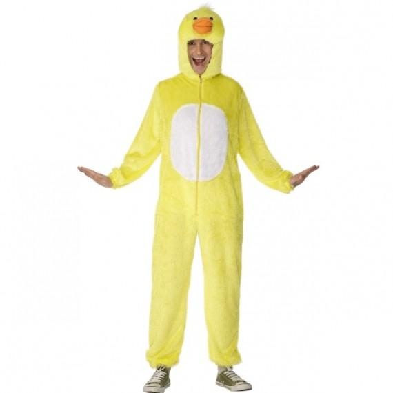 Disfraz de Pato de color Amarillo para Adulto