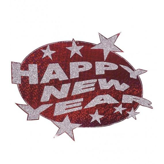 Colgante de Happy New Year de 50 Centímetros de color Rojo