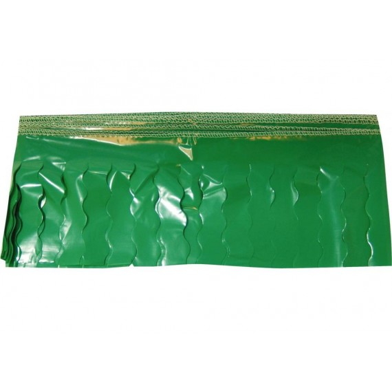 .Guirnalda de Flecos de Plástico Cosidos de 25 Metros de color Verde