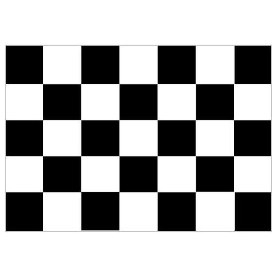 Bandera de Carreras de 90 x 150 Centímetros de Poliéster para Interior
