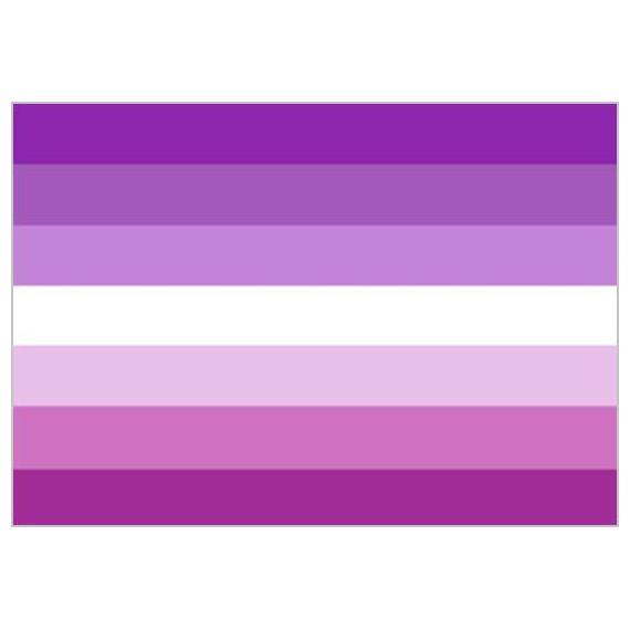 'Bandera de Lésbica Sun de 90 x 150 Centímetros de Poliéster para Interior