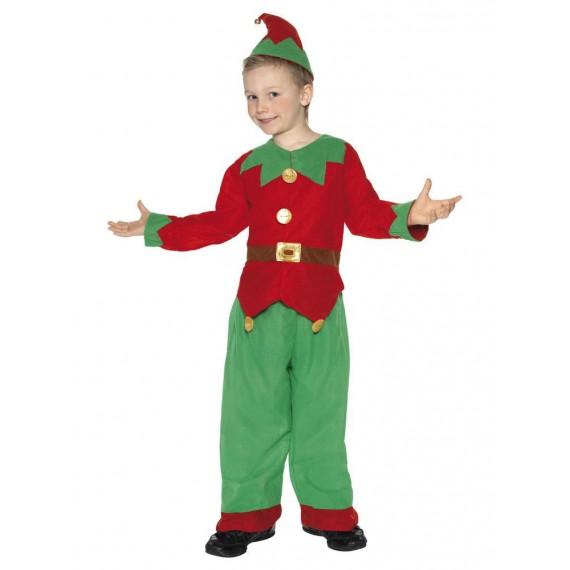 Disfraz de Elfo de color Rojo y Verde Infantil