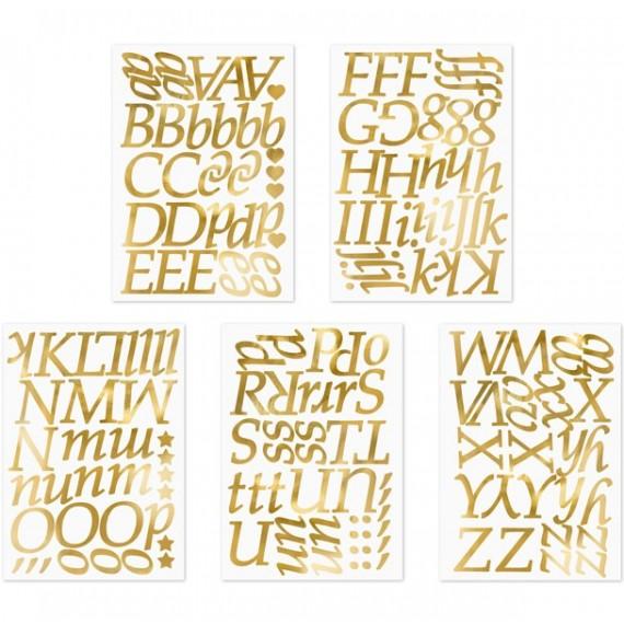 Letras Adhesivas de color Oro