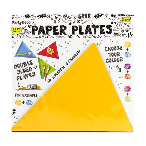 Plato de Triángulo 6 Unidades de 19,5 x 23,5 x 23,5 Centímetros