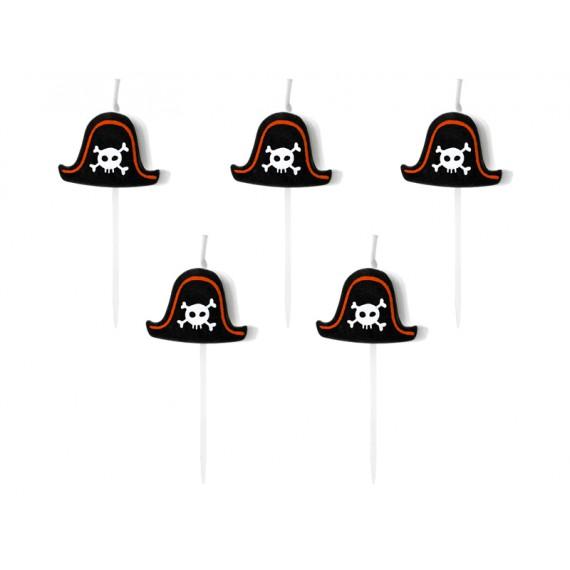 'Vela de Pirata 5 Unidades de 2 Centímetros