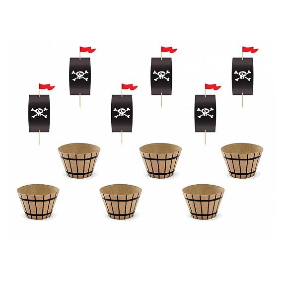 'Set de Pirata 6 Unidades para Cupcakes