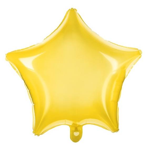 .Globo de Estrella de 48 Centímetros de color Amarillo Neón