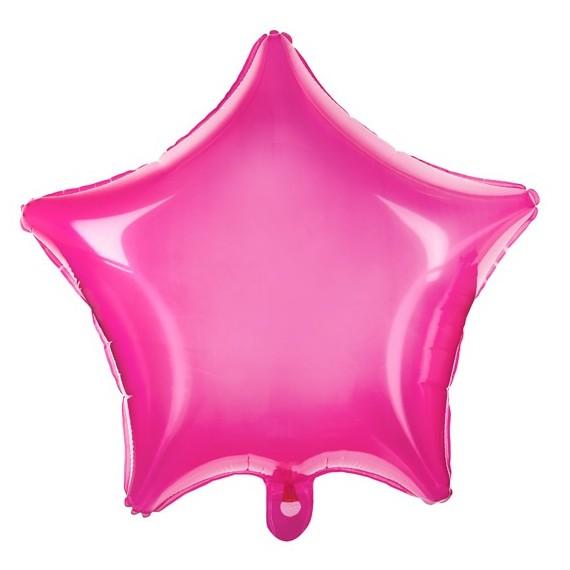 .Globo de Estrella de 48 Centímetros de color Rosa Neón