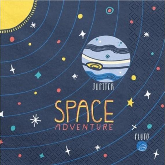 'Servilleta de Space Adventure 20 Unidades de 33 x 33 Centímetros