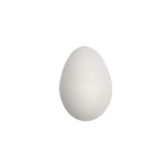 Huevo de Poliespan de 4 x 2,50 Centímetros de color Blanco