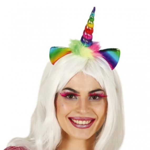Diadema de Unicornio Multicolor