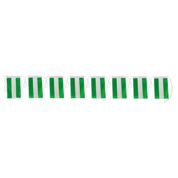 .Guirnalda de Bandera Andalucia de Plástico de 20 x 30 Centímetros 50 Metros