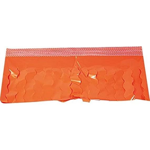 .Guirnalda de Flecos Plástico Cosido de 25 Metros de color Naranja