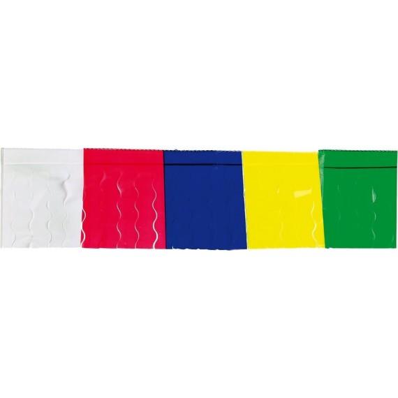 .Guirnalda de Flecos Plástico Cosido de 25 Metros Multicolor