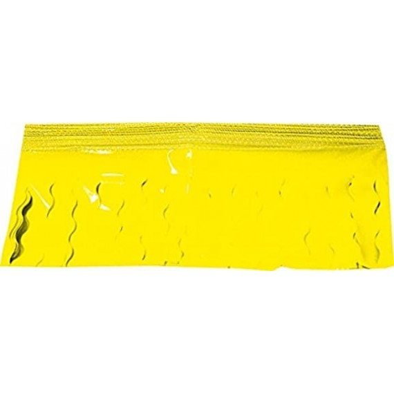 Guirnalda de Fleco Plástico Cosido de 25 Metros de color Amarillo