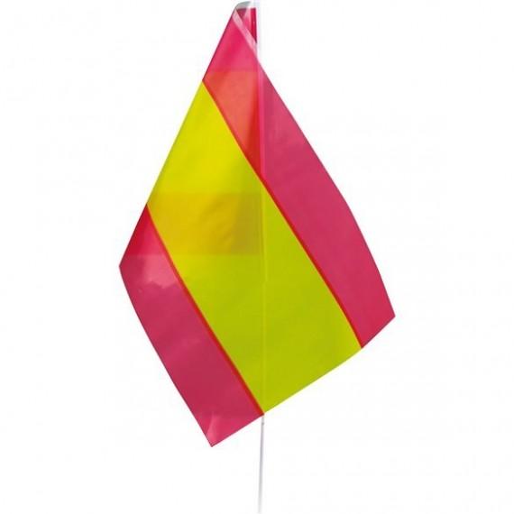 .Bandera de España de Plástico de 20 x 30 Centímetros con Palo
