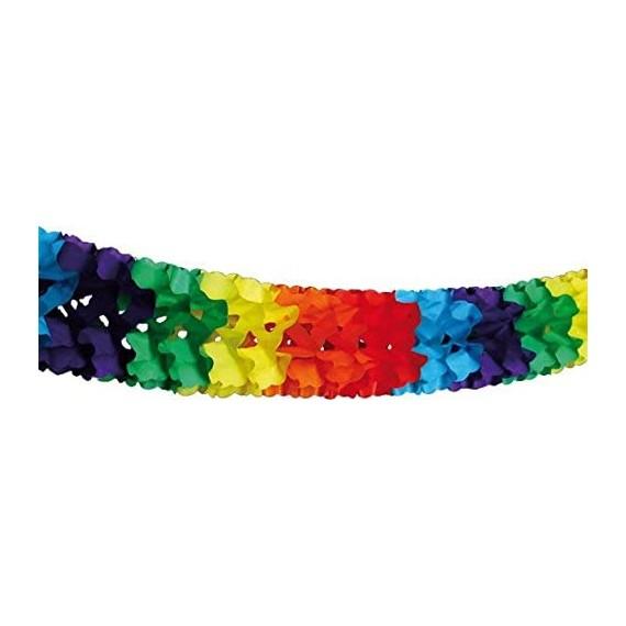 .Guirnalda de Papel de 6 Metros Multicolor