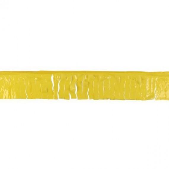 .Guirnalda de Fleco Plástico de 25 Metros de color Amarillo