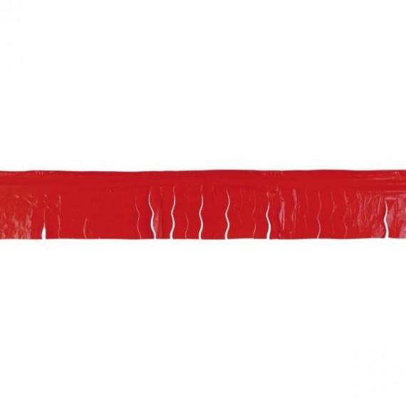 .Guirnalda de Flecos Plástico de 25 Metros de color Rojo