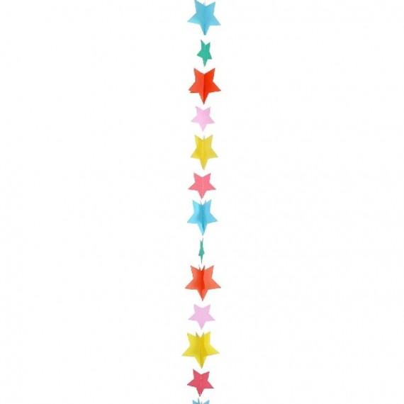 Cola de Estrellas Multicolor de 1,20 Metros para Globo