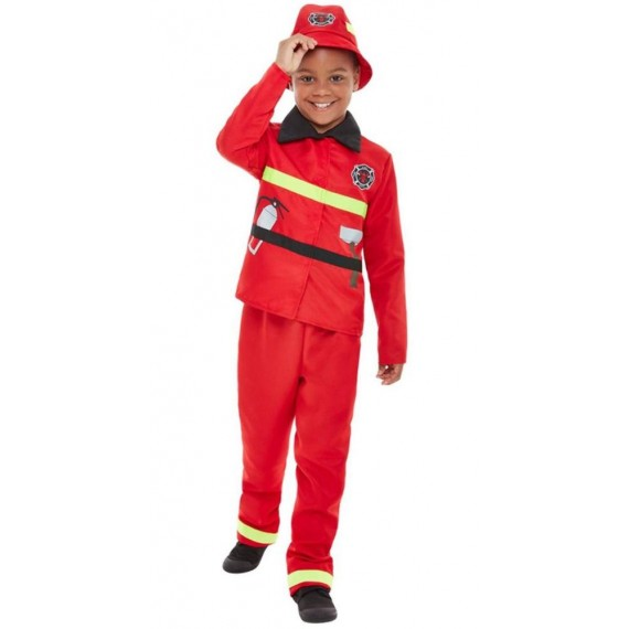 Disfraz de Bombero de color Rojo Infantil