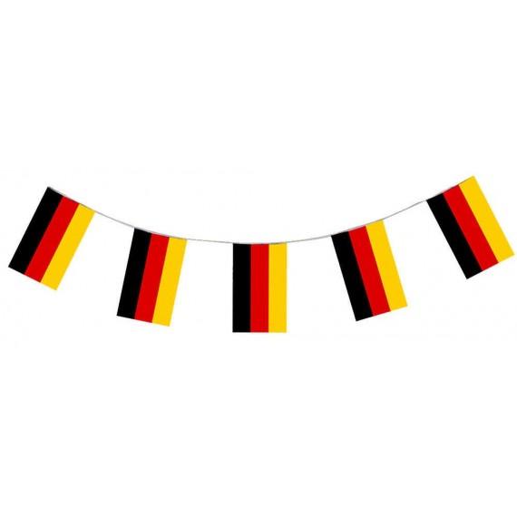 .Guirnalda de Bandera Alemania de Plástico de 20 x 30 Centímetros 50 Metros