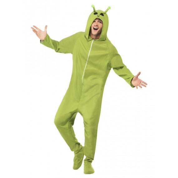 Disfraz de Extraterrestre de color Verde para Adulto
