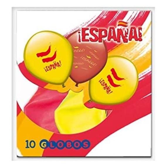 'Globo de España 10 Unidades de color Rojo y Amarillo